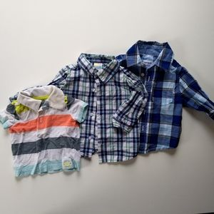 ✨ 5/$25✨👶 3-6 mo Boys Button Down/Polos